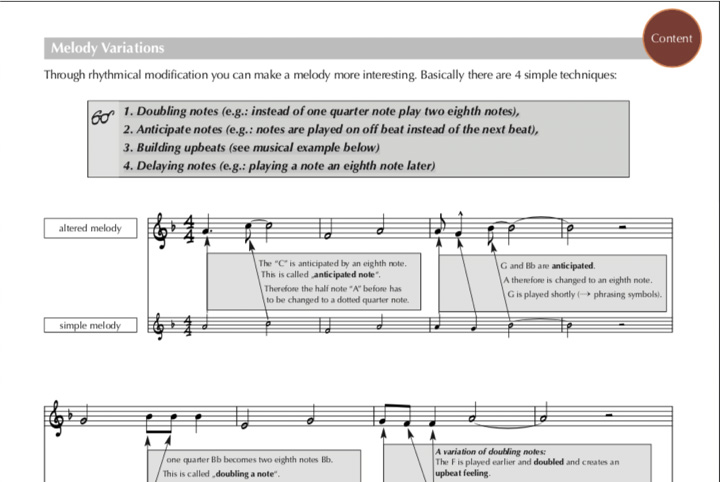 Jazz Studies Melody Variations