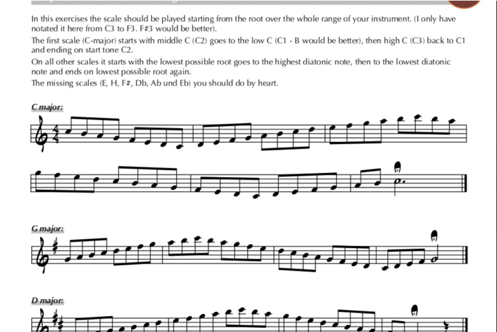 Jazz Studies scale exercises